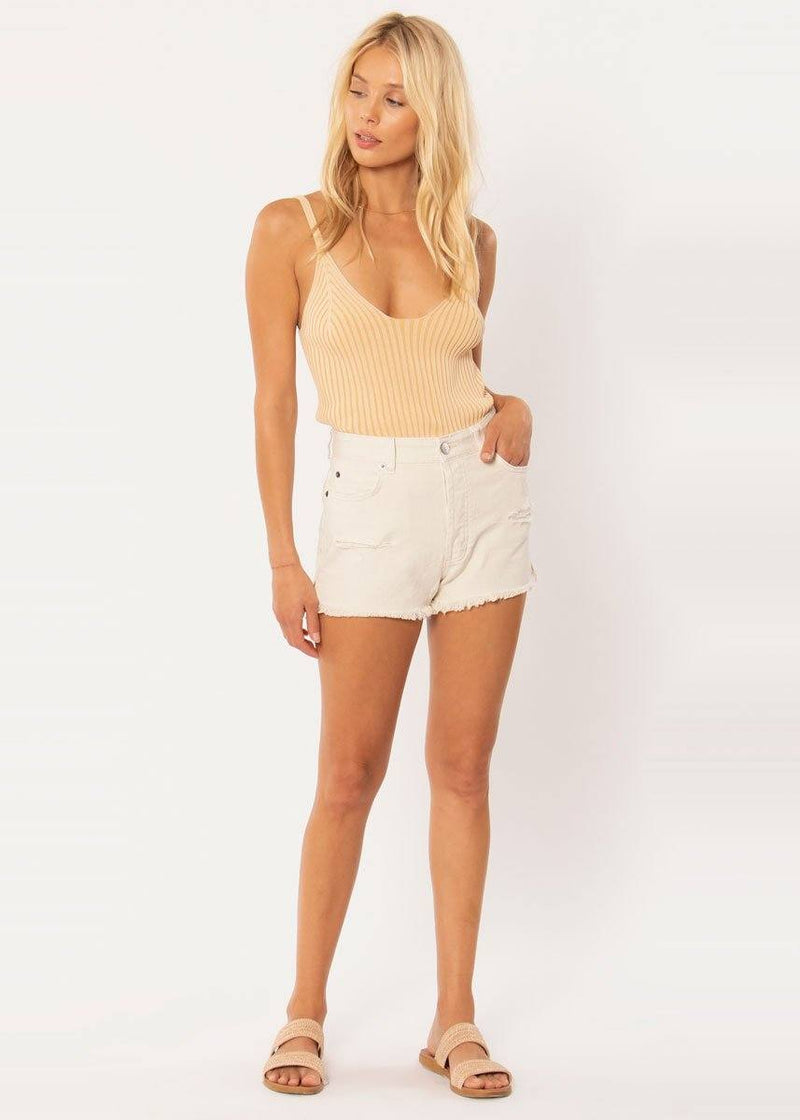Shoreline Denim Short - White Cap