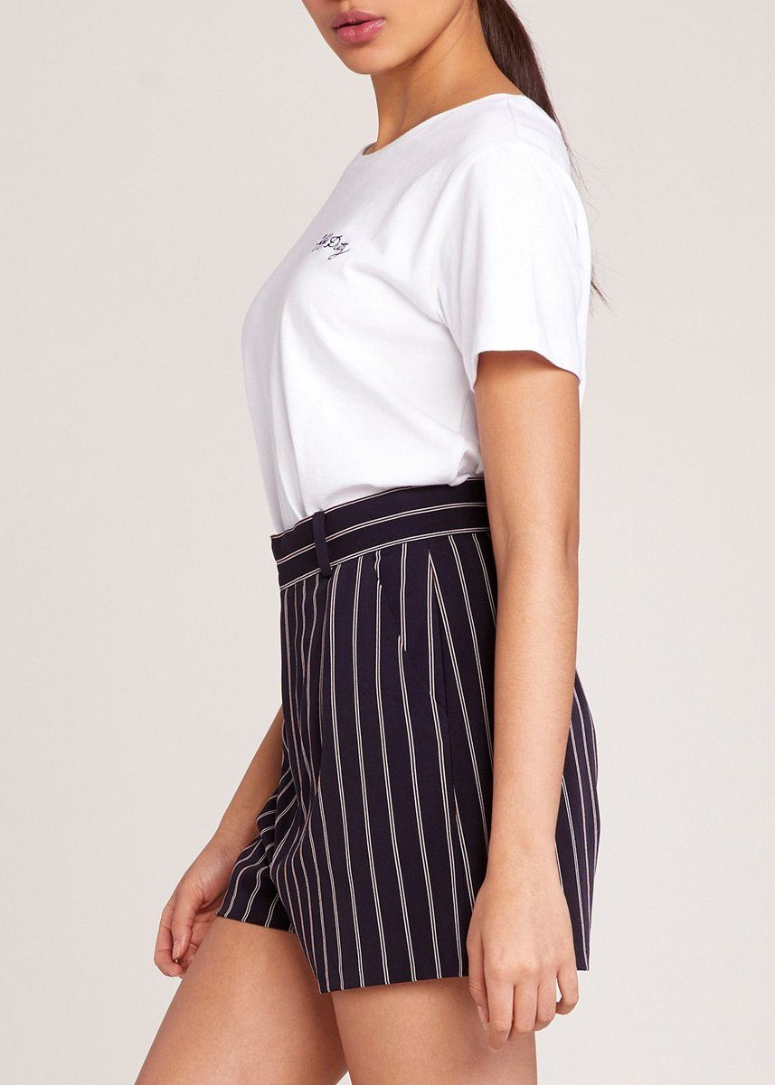 Power Stripe Suiting Short