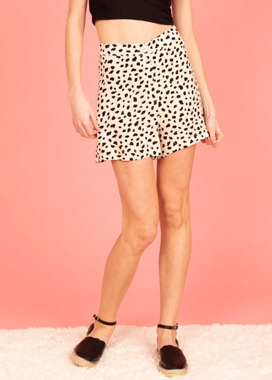 Moon River Leopard Print Shorts
