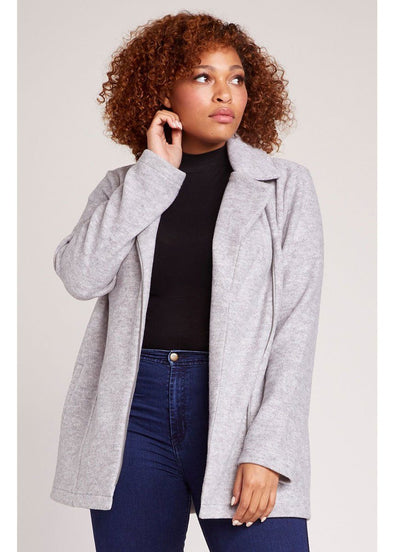 Knit It And Quit It Jacket - Heather Grey