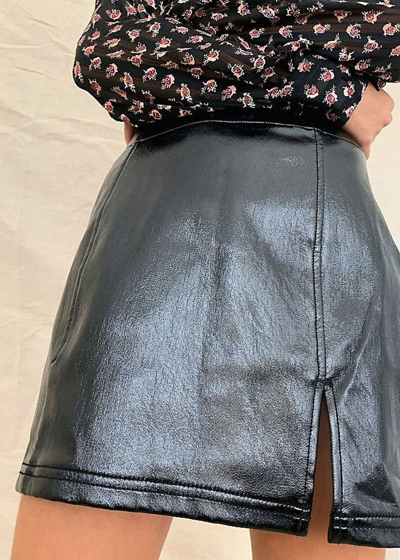 Holding Onto A Dream Coated Mini Skirt