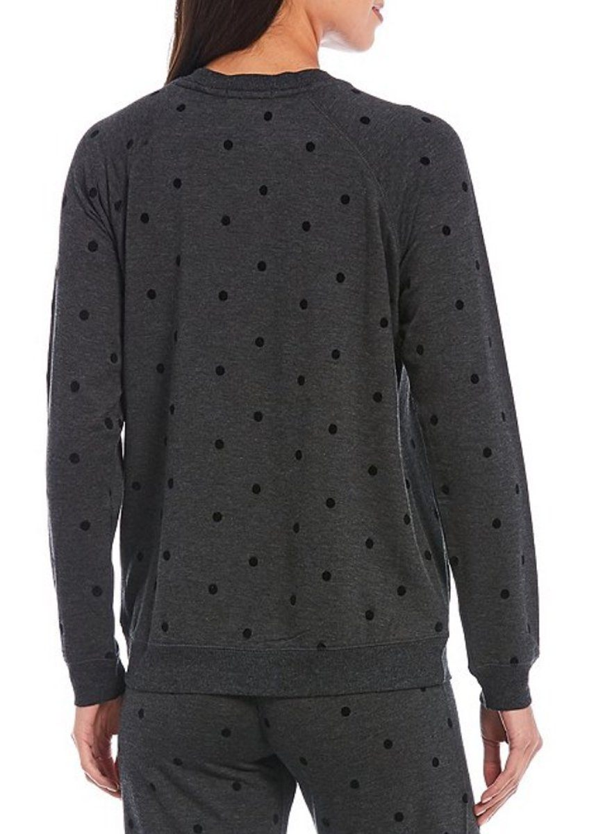Snow Dot Long Sleeve Top - Slate