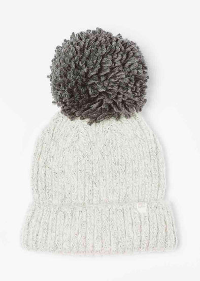Mad Hatter Hit The Slopes Beanie - Grey Pom