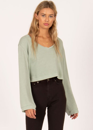 Coconut Grove Pullover - Spa Green
