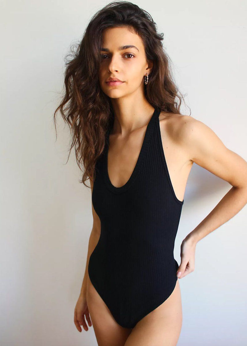 Speed Dial Bodysuit - Black
