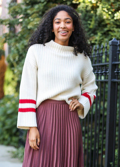 Mulberry Stripe Sweater
