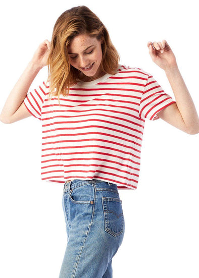 Riviera Stripe Crop