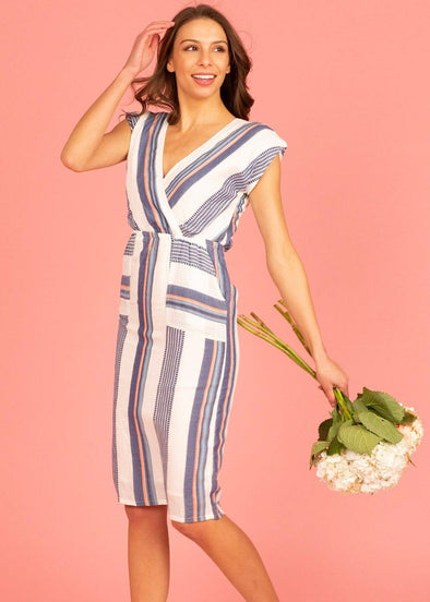 Bermuda Stripe Midi Dress
