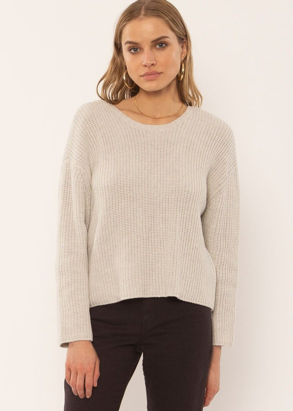 Sunset Road Knit Sweater - Oatmeal