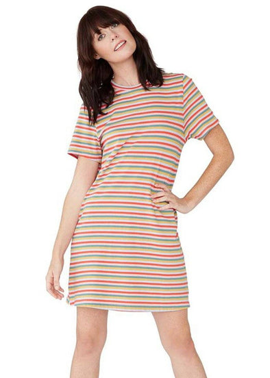 Vintage Stripe Mini T-Shirt Dress