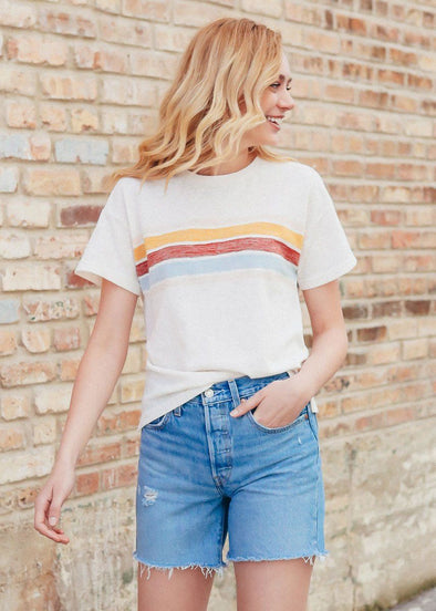 Almost Famous Vintage Stripe Tee