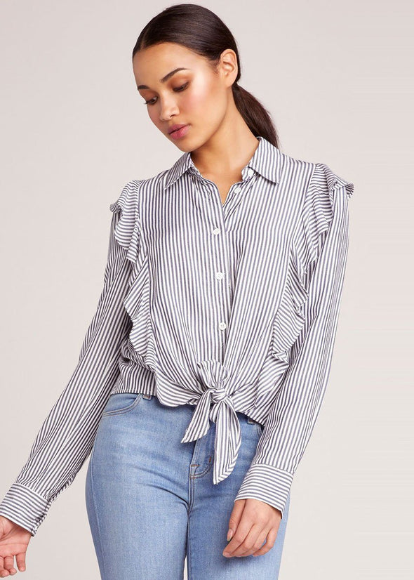 What's My Line Ruffle Blouse