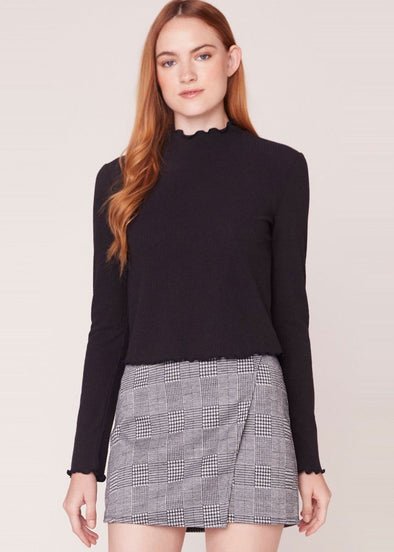 Best Intensions Rib Knit Top - Black