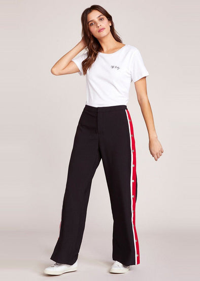 Track Meet Snap Sides Pant - Black