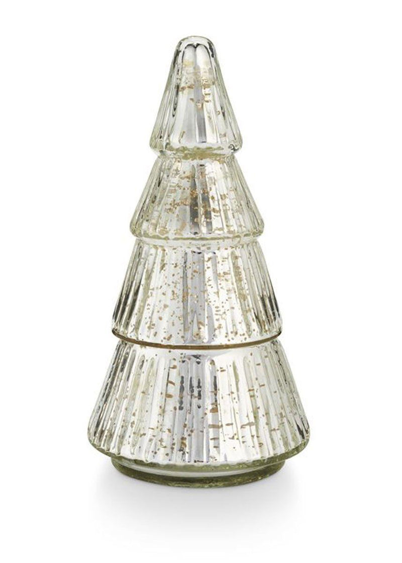 Etched Mercury Glass Tree - Balsam & Cedar