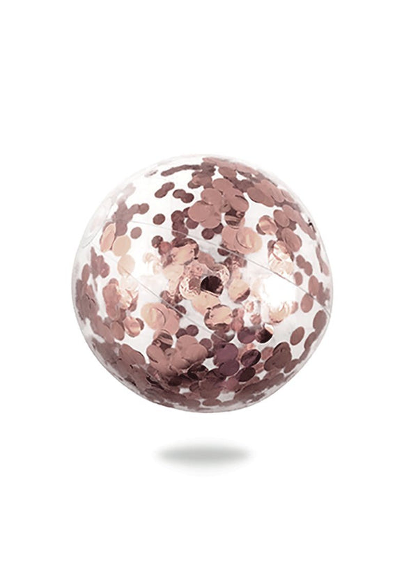 Cue the Confetti! Beach Ball - Rose Gold