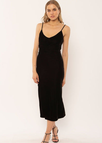 Verona Knit Tank Dress - Black