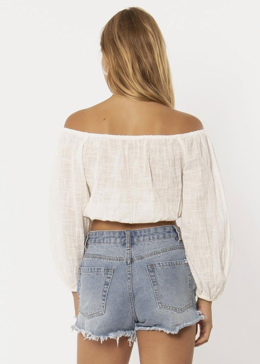 Ocean Winds Woven Top - Vintage White