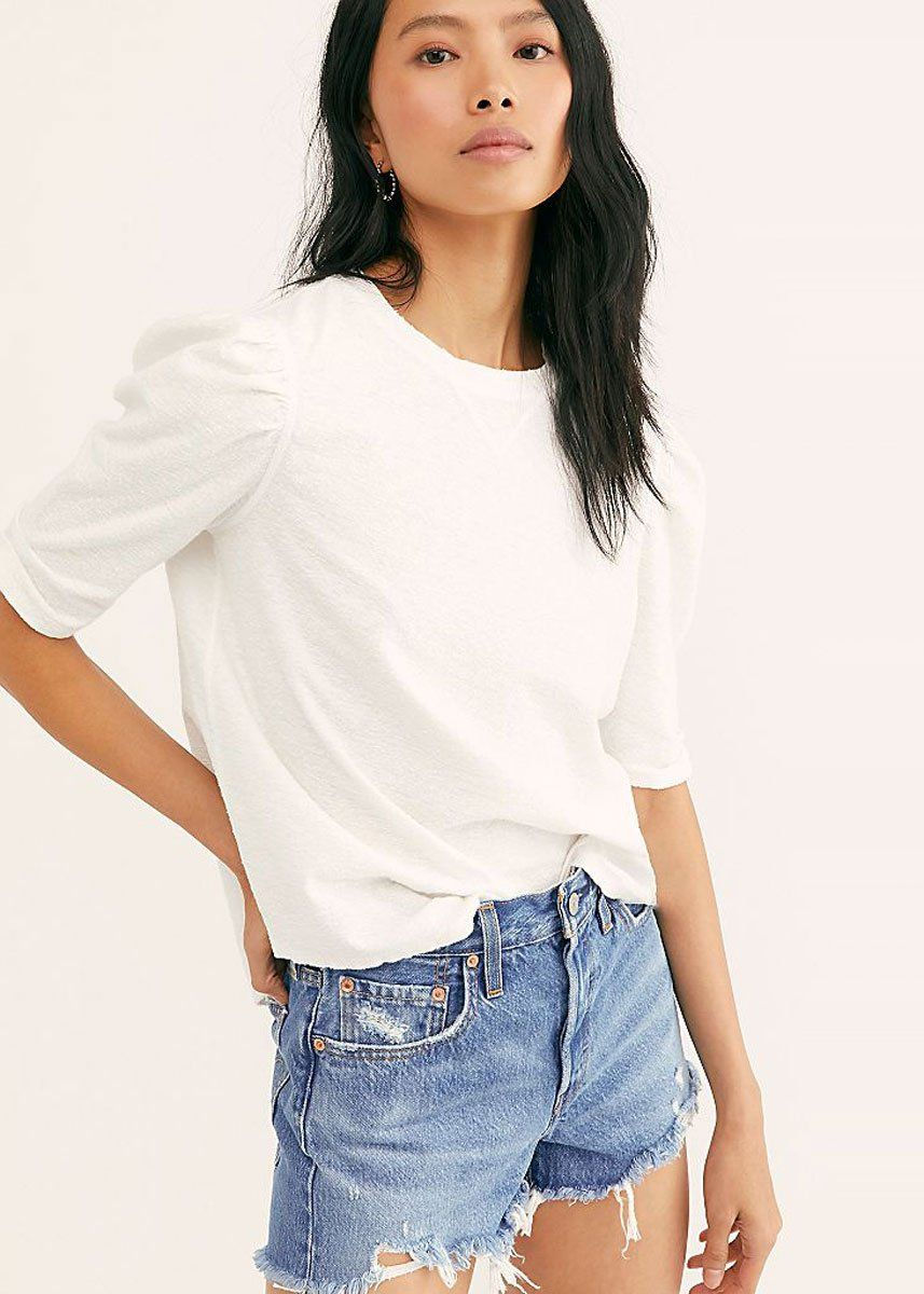 Just A Puff Top - White