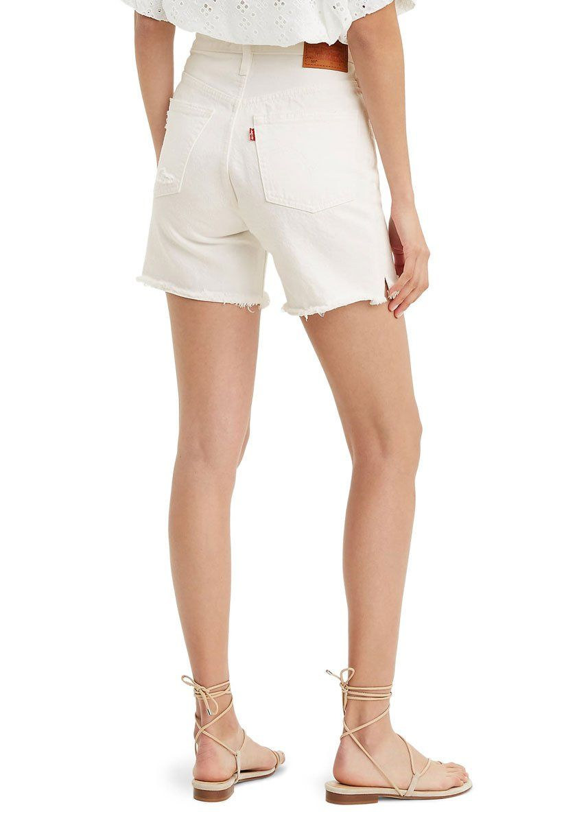 Levi's 501 Long Womens Shorts - Wondering Mind White
