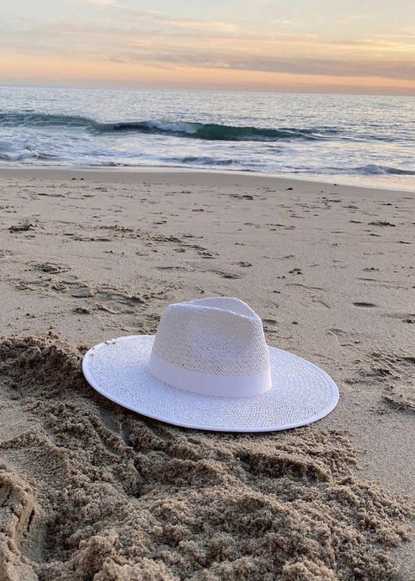 Emma Straw Rancher Hat - White