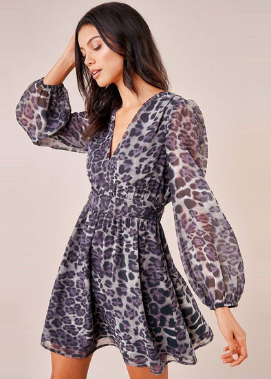 Wild Night Leopard Mini Dress