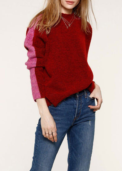 Astrid Wine Sweater