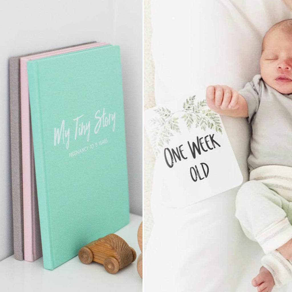 Baby Journal + Baby Milestone Cards Bundle-Vanda Baby