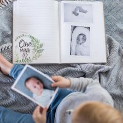 Baby Memory Book with Baby & Pregnancy Milestone Cards Bundle-Vanda Baby