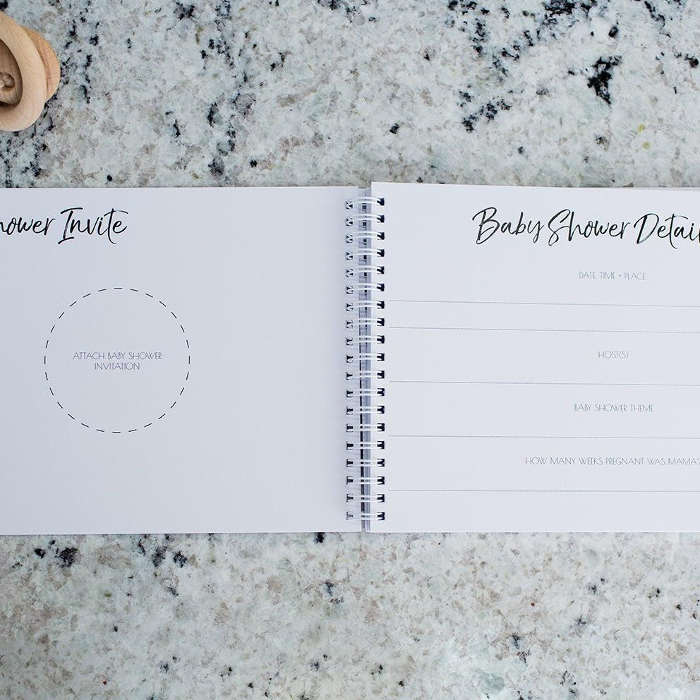 Baby Shower Guest Book + Muslin Wrap Bundle-Vanda Baby