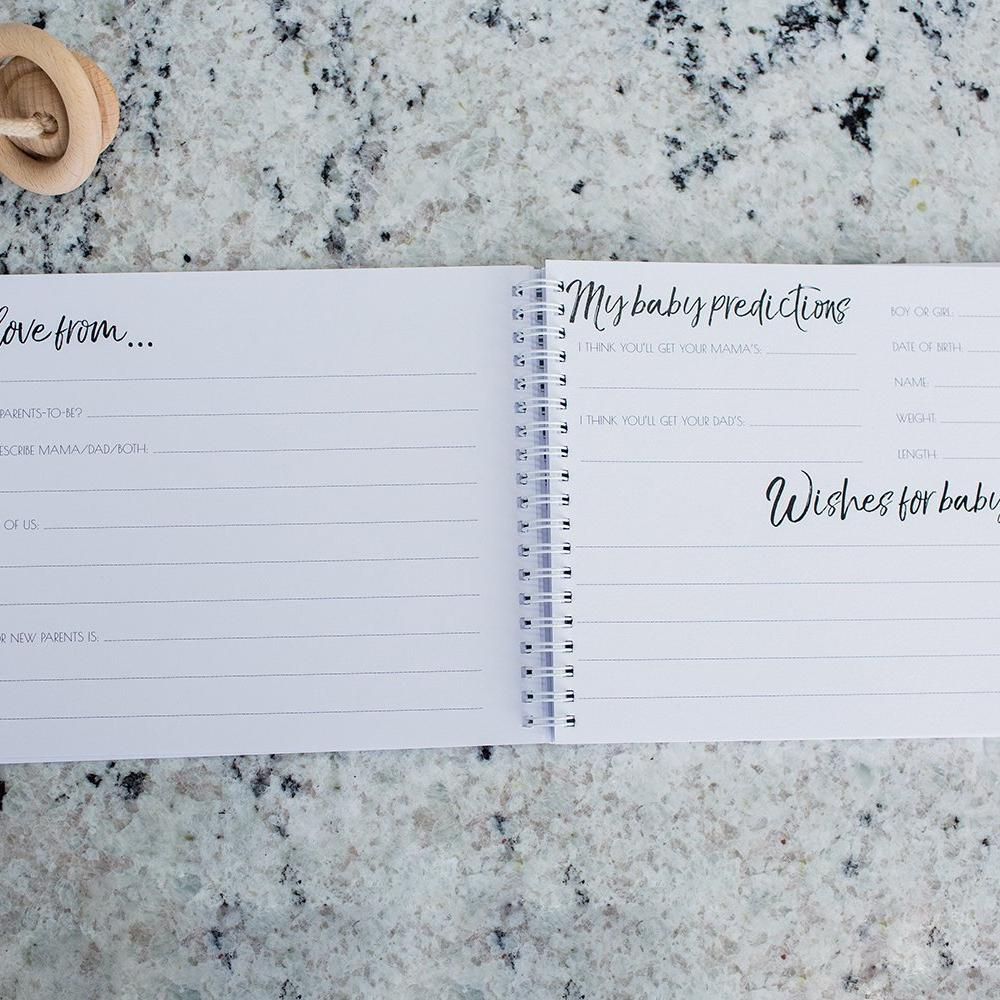 Greenery Inspired Minimalist Baby Shower Guest Book-Vanda Baby