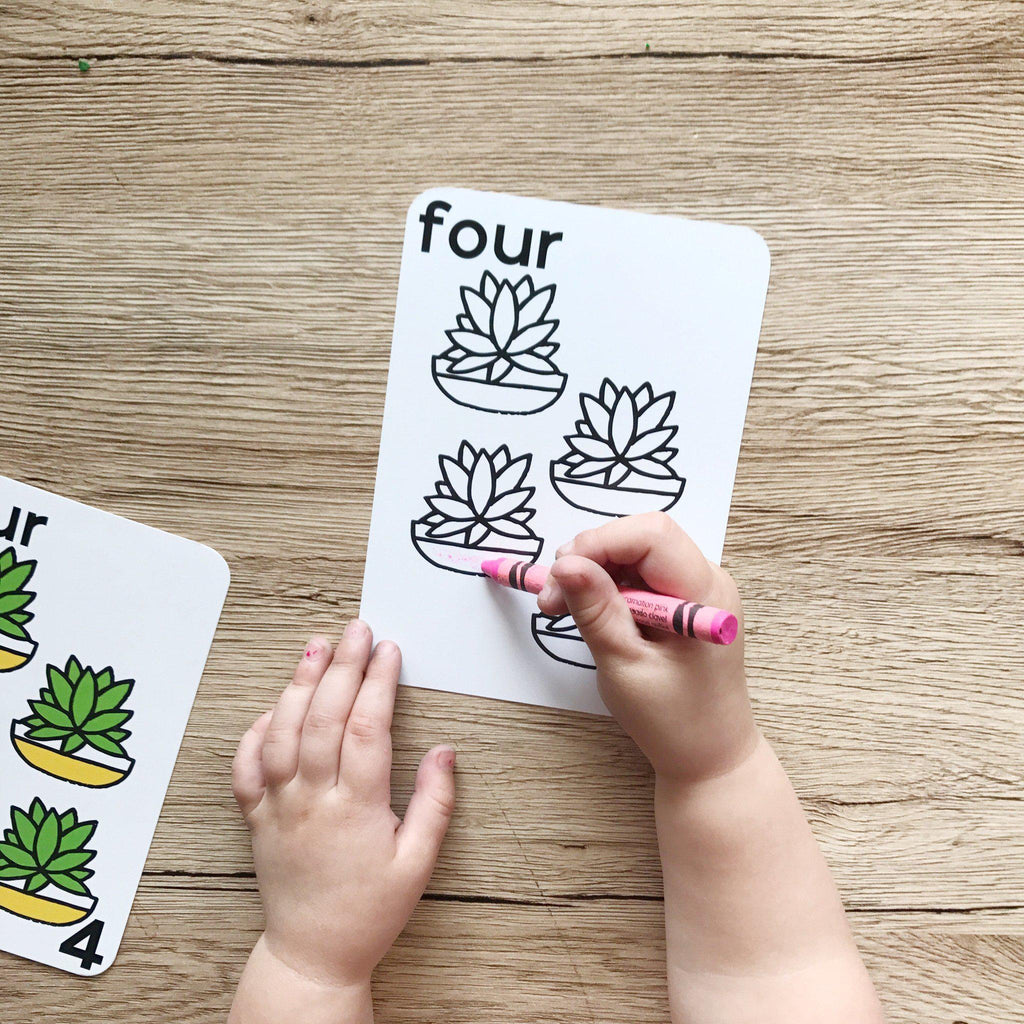 Number Flash Cards - Learn To Count