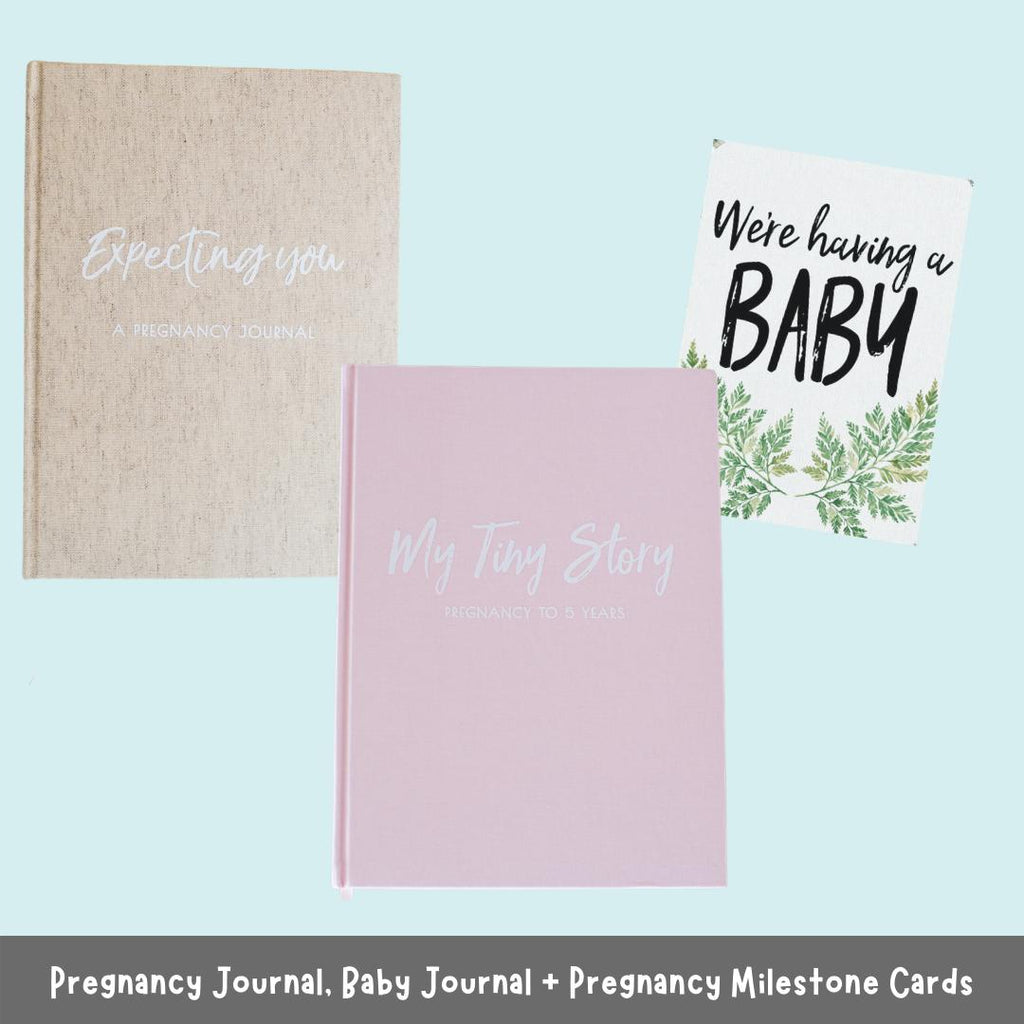 Pregnancy Journal, Baby Journal and Pregnancy Milestone Cards-Vanda Baby