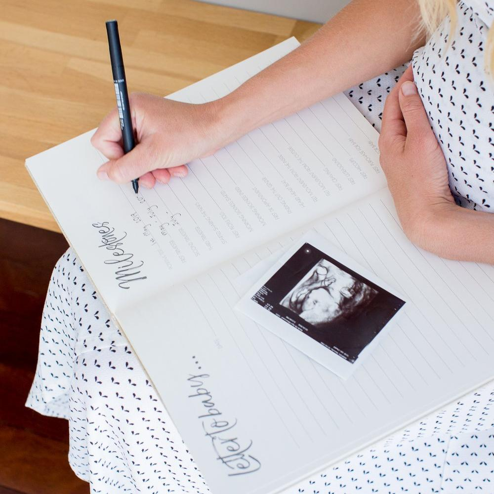 Pregnancy Journal & Baby Milestone Cards-Vanda Baby