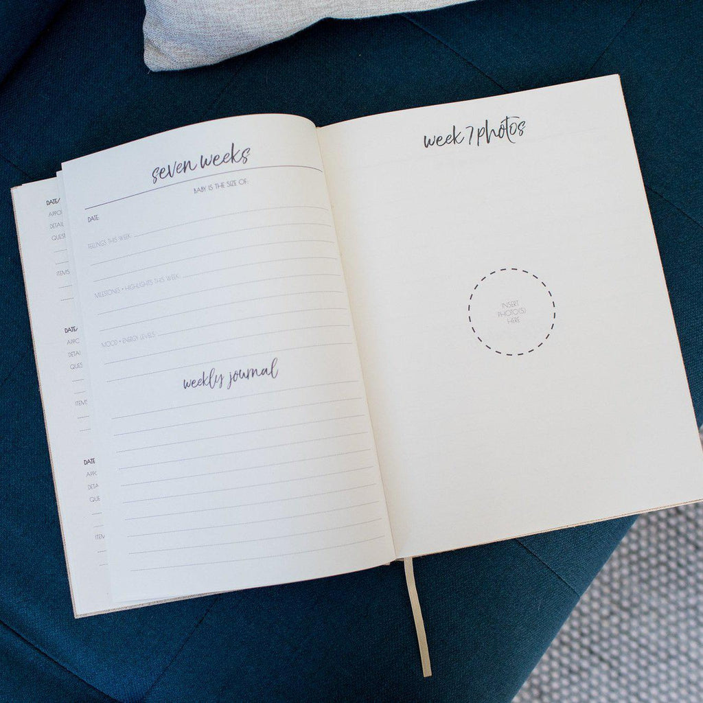 Pregnancy Journal & Baby Shower Guest Book Bundle-Vanda Baby
