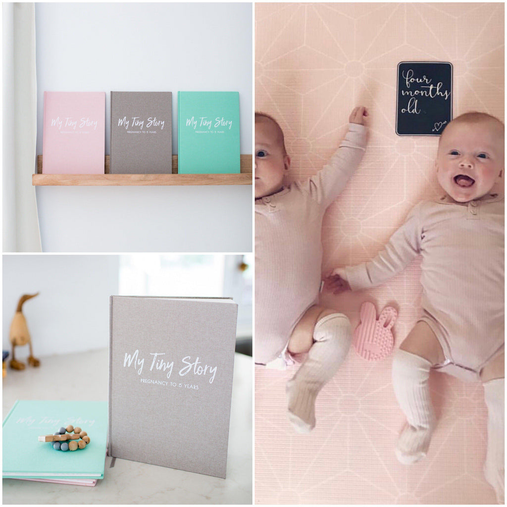 Twins Gift Bundle - 2 x Memory Books + Twin Milestone Cards-Vanda Baby