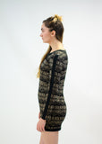Tribal Print Sweater Dress