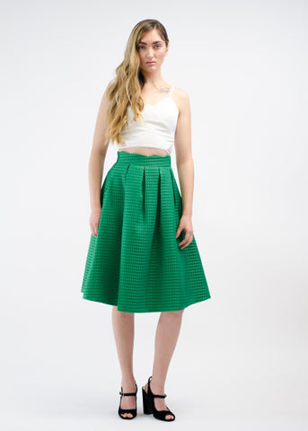Scalloped High Waist Skirt