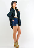 High Waist Distressed Denim Short