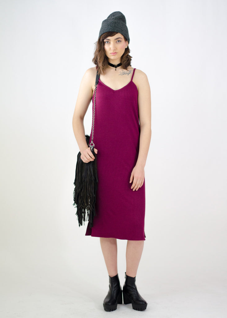 Ribbed Spaghetti Strap Dress