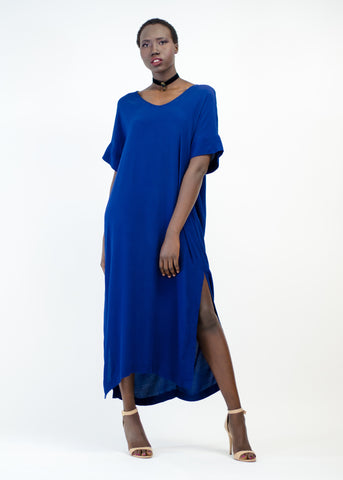 Double Side Slit Midi Dress