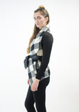 Plaid Cardigan Wrap
