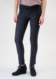 Black Lace Panel Skinny Pants