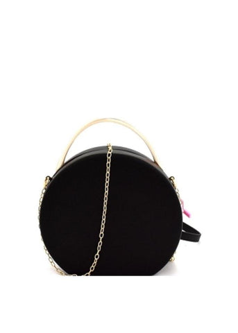 Black Round Clutch Shoulder Bag