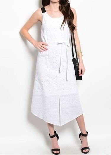 Lace Panel Summer Dress