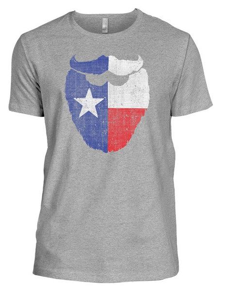 "Vintage ""Texas Flag Beard"" Tri-Blend T-Shirt"