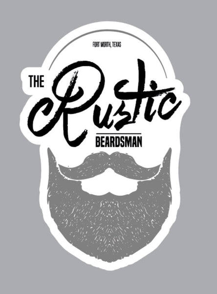 The Rustic Beardsman Vinyl Sticker