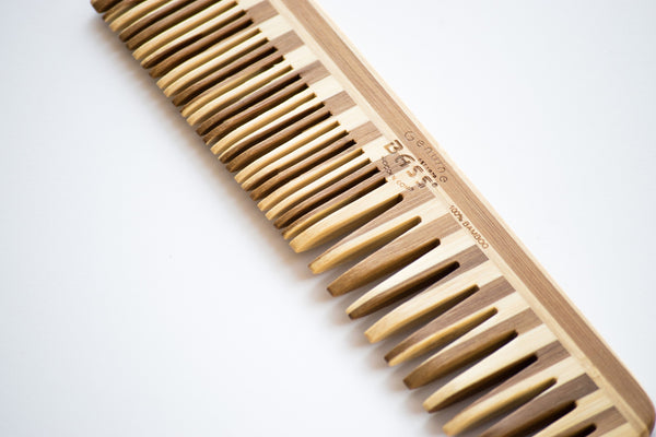 Large Bass Wood Beard Comb Multi Color