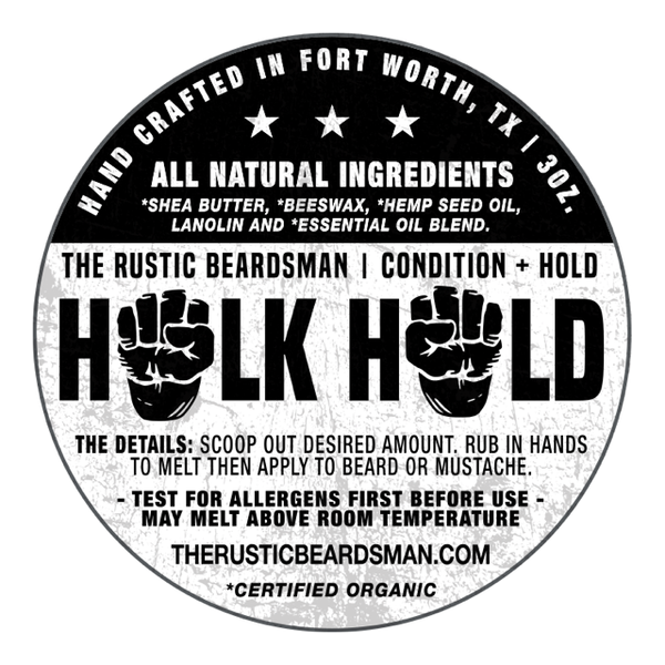 HULK HOLD Label Beard Rustic Original