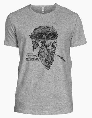 Beard Tee Skull Always a Beardsman